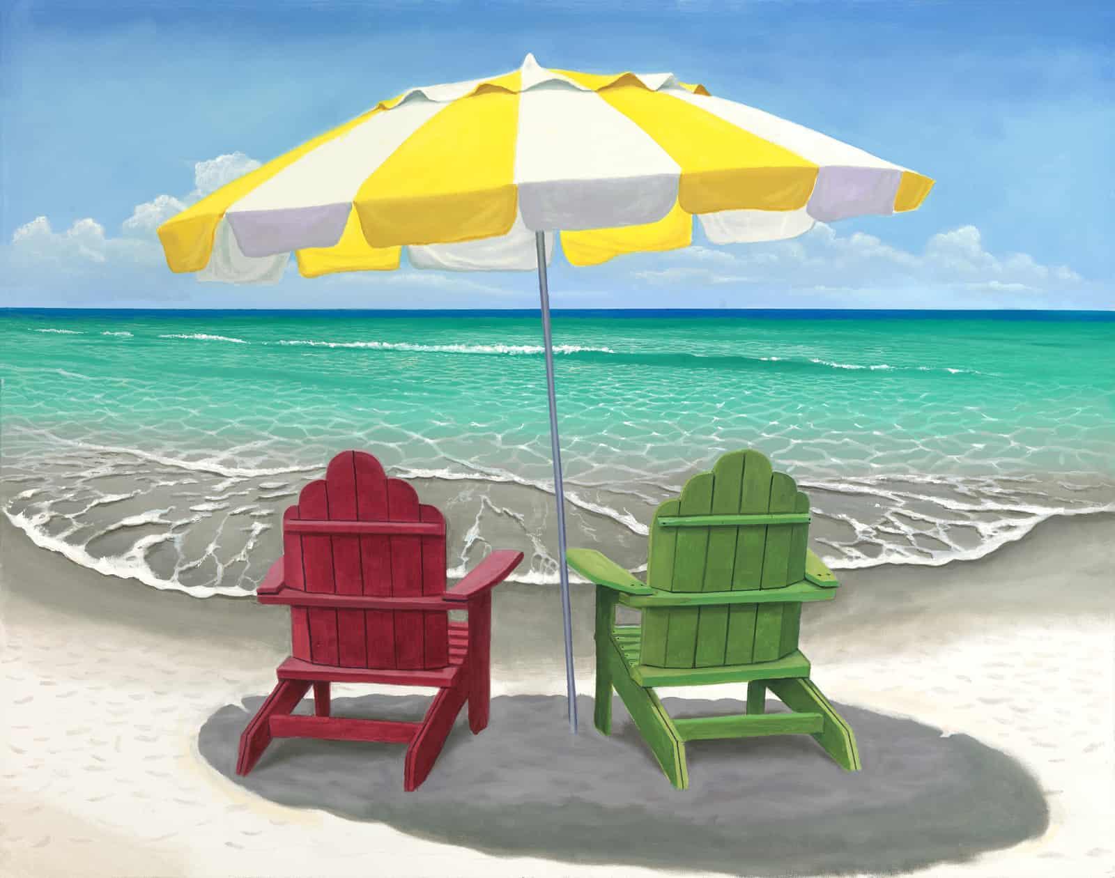Adirondack Chairs At The Beach