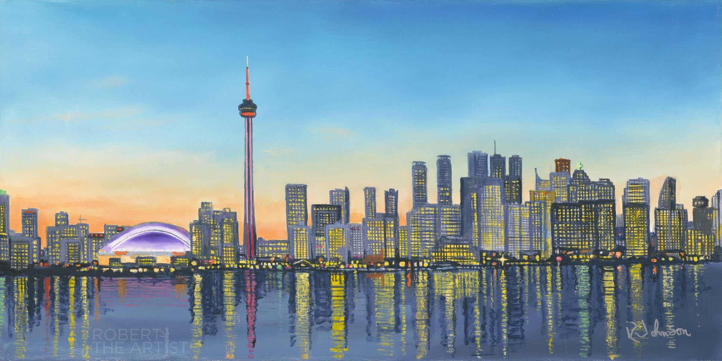 Toronto Skyline Night View