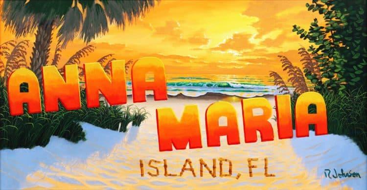 Anna Maria Island sunset, an original painting by Robert Johnson
