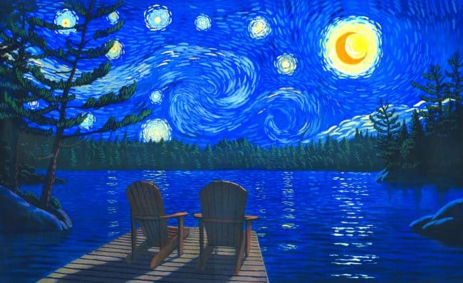 Starry Night Muskoka by artist Robert Johnson