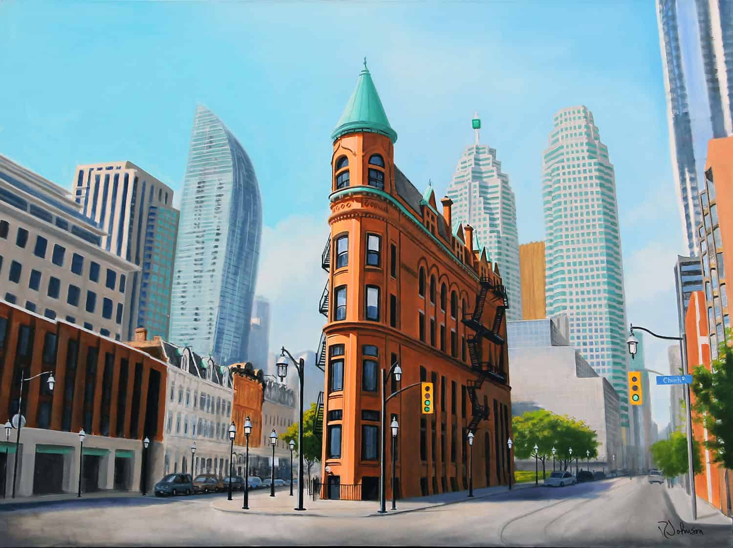 Toronto's Flatiron building - download free wallpaper for your computer, tablet and phone.