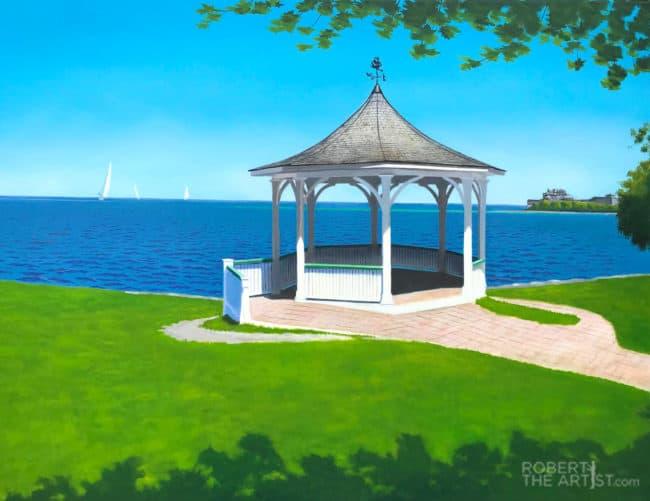 Niagara on the Lake Gazebo painting by Robert Johnson