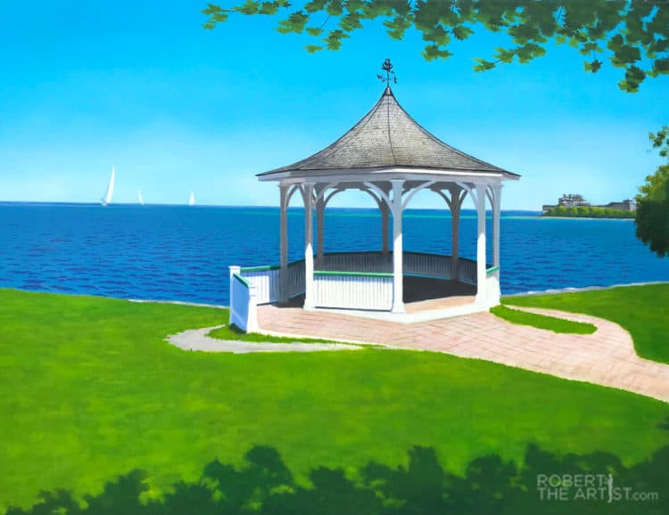Niagara on the Lake Gazebo painting by Robert Johnson